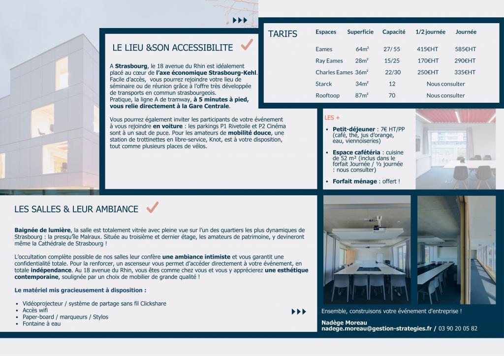présentation espace événementiel Gestion & Stratégies