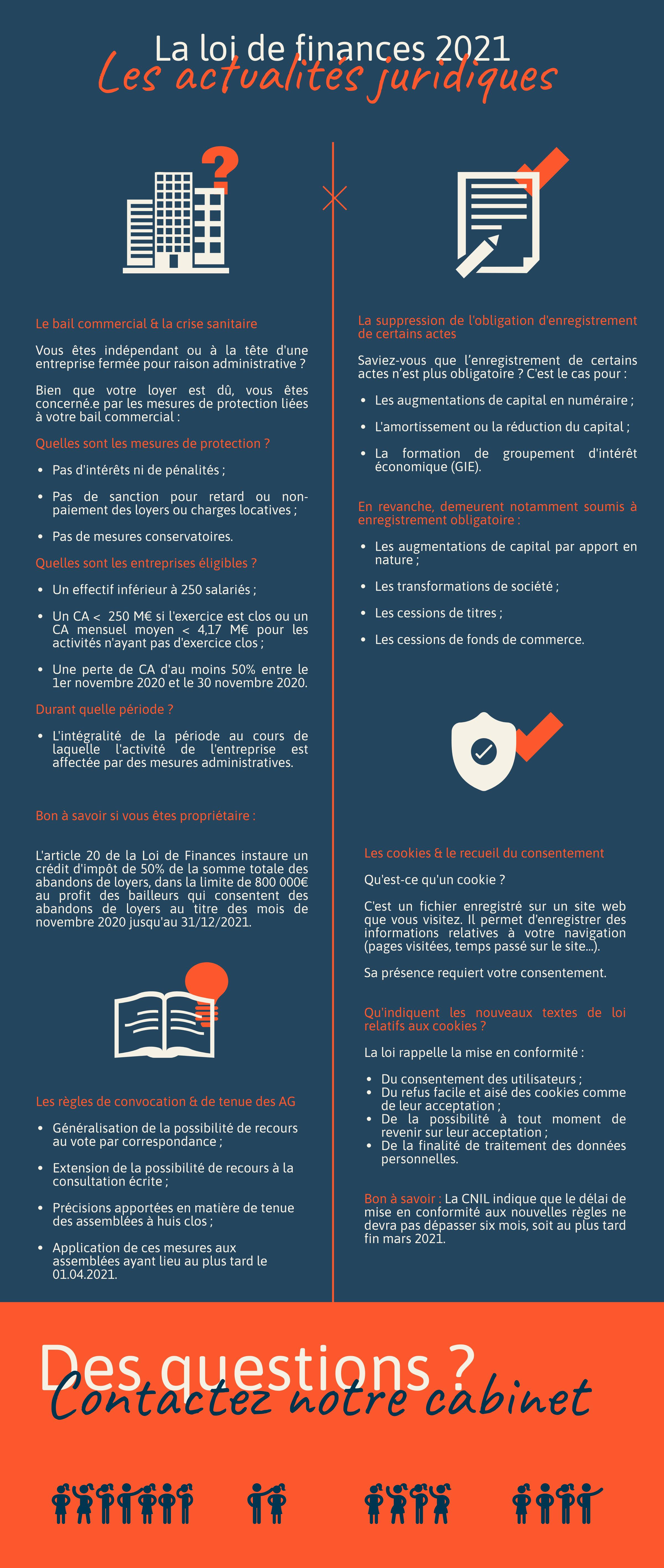 infographie Loi de finances 2021 - Les actualités juridiques